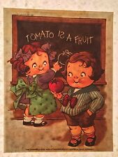 LAST 1 70s Campbell's Soup Kids Antique Hubley Doll artwork Orig T-shirt Iron-On