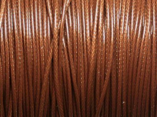 5 Mètres Fil Cordon de Coton Ciré Marron 1mm   4558550027672