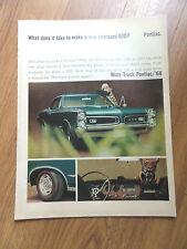 1966 Pontiac GTO Ad What does it take to make a new improved GTO? Pontiac