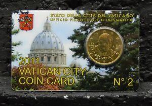 VATICAN 2011 : Coincard 50 cents .n°2. Officiel.