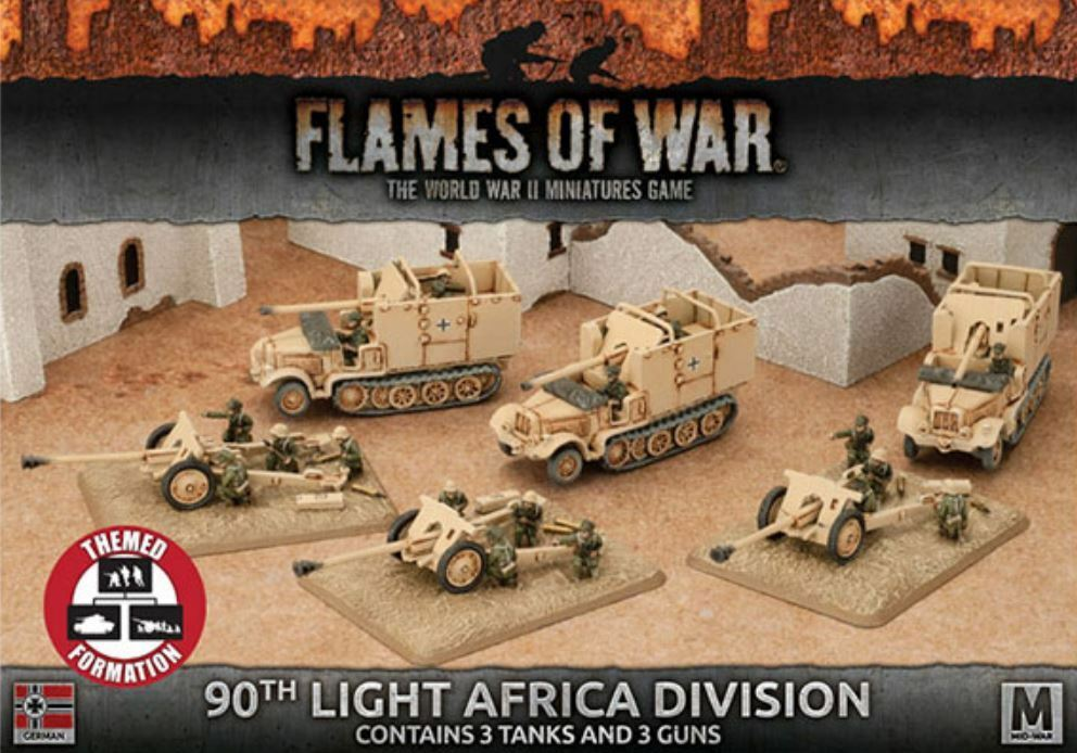 Flames of War - WWII Miniatures Game - 90th Light Africa Division