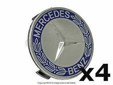 Mercedes (2002+) w204 w209 w211 Royal Blue Alloy Wheel Center Hub Cap (4) OEM