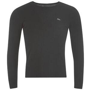 Tee-shirt-stretch-LONSDALE-noir-manches-longues-Du-S-au-XXL-Taille-grand