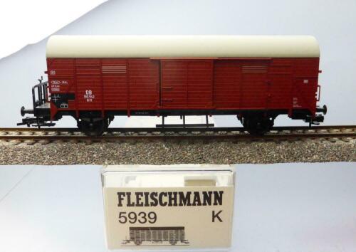 Fleischmann 5939; Gedeckter Güterwagen Gl DB unbespielt in OVP //H828