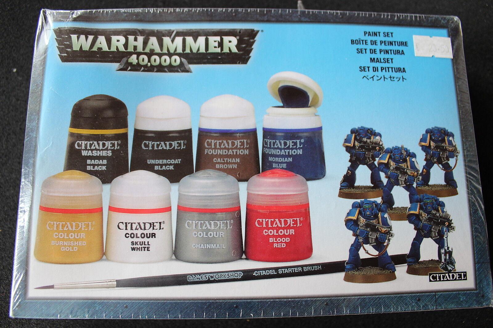 Juegos taller Warhammer 40k conjunto de pinturas Citadel badab Negro en Rojo Nuevo Y En Caja Nuevo