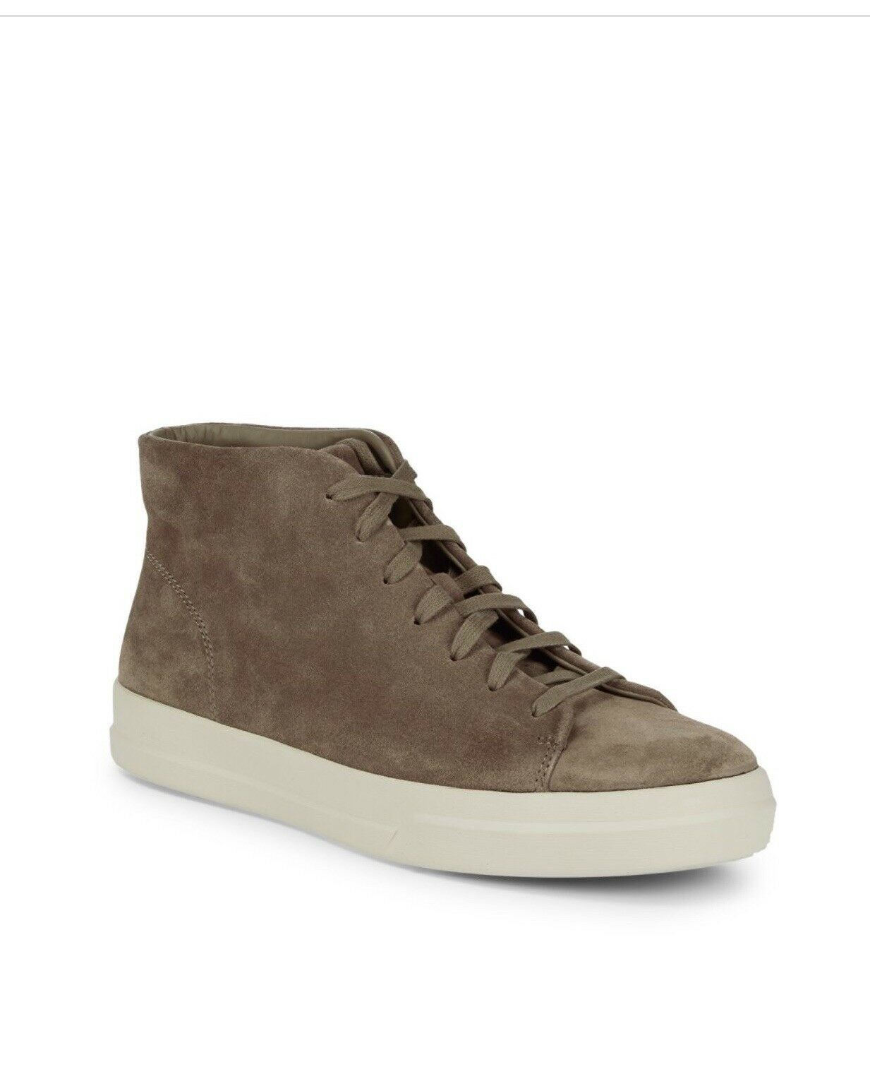 New in Box -  350 Vince Cullen Suede Leather Hi Top Men Sneaker, Size 8 Flint
