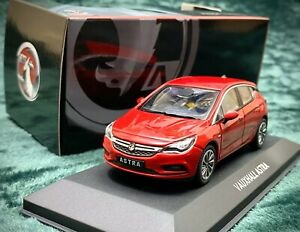 Vauxhall-Astra-MK7-Opel-Astra-K-Collector-039-s-Coche-Modelo-1-43-Color-Rojo