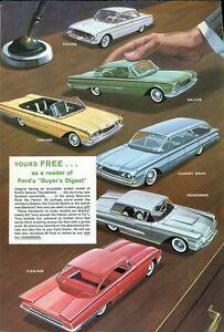 1960 Ford Dealership PROMO CAR Ad, Refrigerator Magnet, 40 MIL