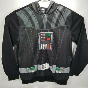 Men's Star Wars Darth Vader Black Hood Eyeholes Sweatshirt Jacket Hoodie Size M