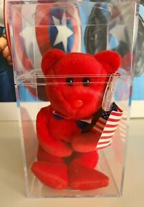 Thomas Bear Beanie Baby With Protected Tag