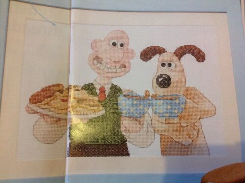 D Wallace And Gromit Tea And Biscuits  Cross Stitch Chart