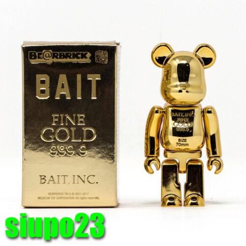 Medicom 100/% Bearbrick ~ BAIT Gold Bar 999.99 Be@rbrick