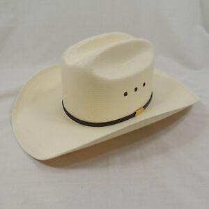 1f596394d Details about JB Stetson 10X Straw Rancher Shantung Panama Sz 56/7 Cowboy  Hat
