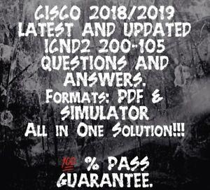 CISCO ICND2 EXAM DUMP FOR 200-105 EXAM Q/&A PDF 2018//2019