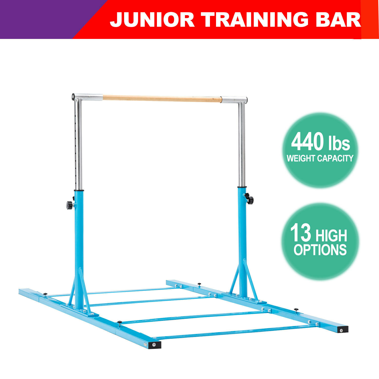 Horizontal Bar Junior Training Bar Gymnastics Indoor Sports Adjustable bluee