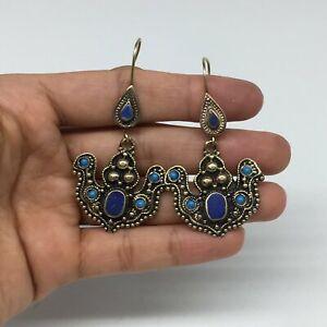 1pc-2-3-034-Turkmen-Earring-Synthetic-Lapis-Fashion-ATS-Boho-Afghanistan-TE182