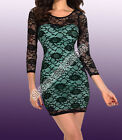 Dress Flowers Woman Elasticized Little Evening Boat Neck Stretch Bodycon