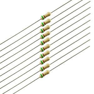 5.1 Ohm 1//4 Watt Carbon Film Resistor 5 Pieces Prime Parts US Seller Free S/&H