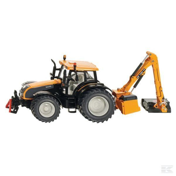 Siku Valtra 1 32 Scale Model Tractor With Bank Mower Collectable