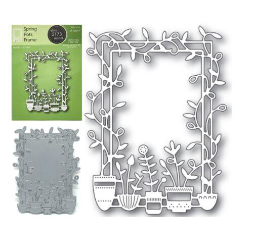 Flower Trellis Metal Die Cut Spring Pots Frame Poppystamps Cutting Dies 2173