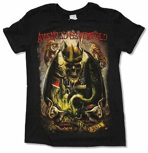 Avenged-Sevenfold-King-Tour-2015-Black-T-Shirt-New-Official-Adult-A7X