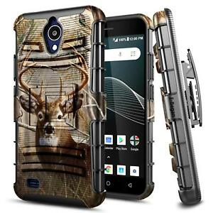 Details about For AT&T AXIA (QS5509A) | Rugged Shockproof Holster Clip  Kickstand Cover Case