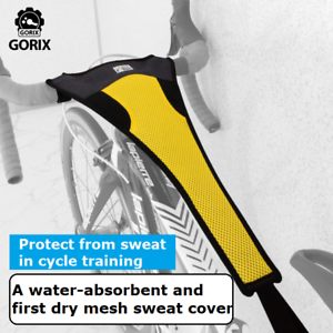 Yellow×Black GORIX Sweat Guard Net for Bike Trainer Frame Protector Cover