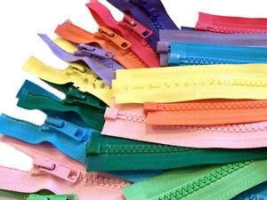 24 Inch Vislon Zipper YKK #5 Medium Weight Molded Plastic Separating Made USA
