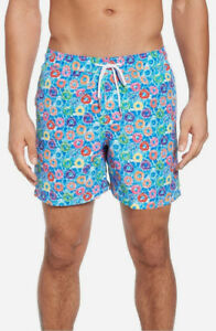 Donuts Colorful Mens Beach Shorts Linen Casual Fit Short Swim Trunks