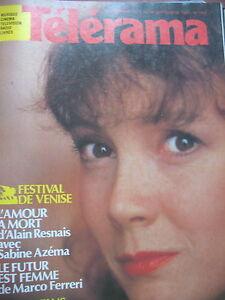 1808-SABINE-AZEMA-FESTIVAL-DE-VENISE-ALAIN-RESNAIS-MARCO-FERRERI-TELERAMA-1984