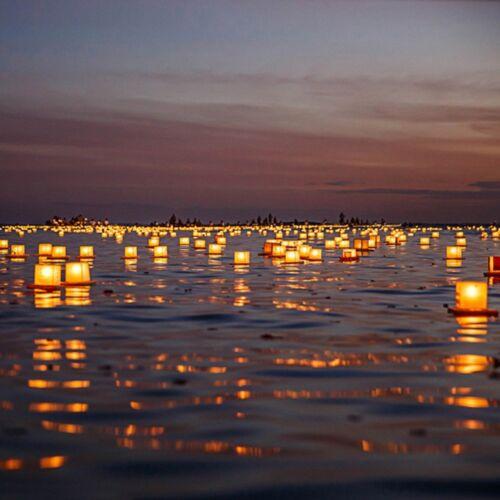4.3 Inch Water Floating Candle Lanterns Outdoor Biodegradable Lantern 4 Praying