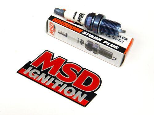 MSD IRIDIUM SPARK PLUGS FOR 86-89 ACURA INTEGRA 1.6L FREE MSD EMBLEM