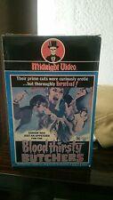 Bloodthirsty Butchers Midnight Video Vhs horror rare big box Wizard