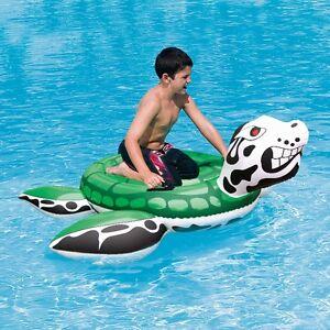 aufblasbares Schwimmtier Drachen Schildkröte 147cm Aufblastier Badetier 9648