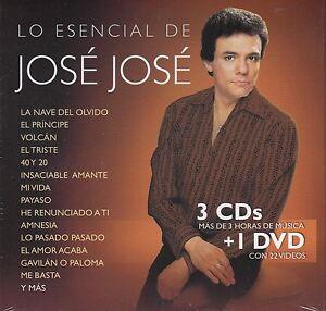 Jose-Jose-3CD-1DVD-Colecion-de-canciones-mas-Videos-CAJA-DE-CARTON-New-Nuevo