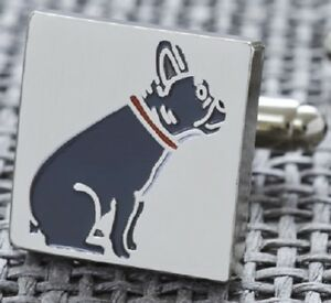French-Bulldog-Cufflinks-Silver-Plated-Gift-Box-Cool-Present-for-Men-Dad