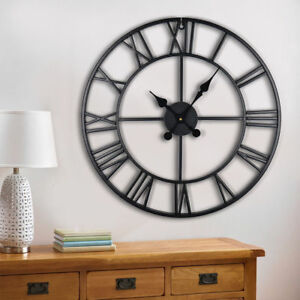 60CM-EXTRA-LARGE-ROMAN-NUMERALS-SKELETON-WALL-CLOCK-BIG-GIANT-OPEN-FACE-ROUND-O