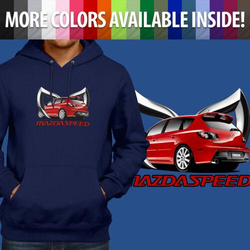 Mazdaspeed Mazda 3 MPS Zoom Zoom Evil M Logo Pullover Sweatshirt Hoodie Sweater