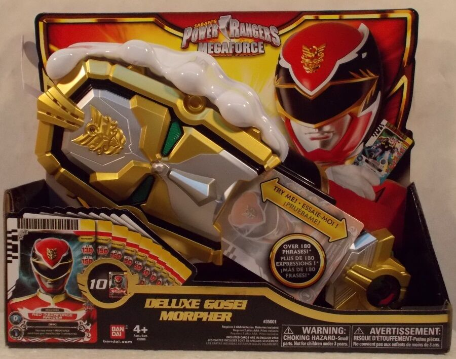 Power Rangers Megaforce Electronic Deluxe Gosei Morpher Lights Lights Lights Sounds & 10 Cards 358c59