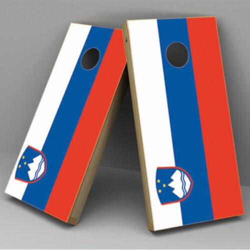 slovenia-cornhole Slovenia Flag Cornhole Board Vinyl Sticker Wrap