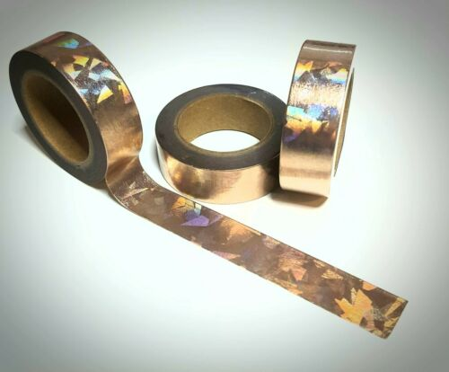 Washi Tape Sample 15mm x 1m Rose Gold Glitzer Holo Nr.15