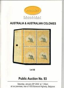 Australia Australian Colonies Premier Philately Auction Jan 26 2002 Ebay