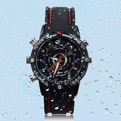 1280x960 8GB Waterproof Spy Hidden Watch Video Recorder DVR Camcorder Camera