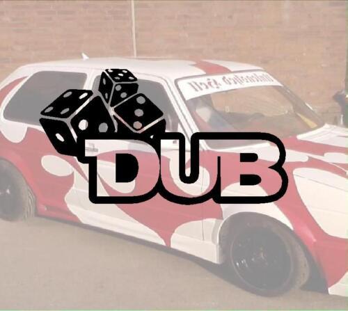 dub Würfel JDM Aufkleber Geil Like Fun Domo VW Volkswagen Audi VAG