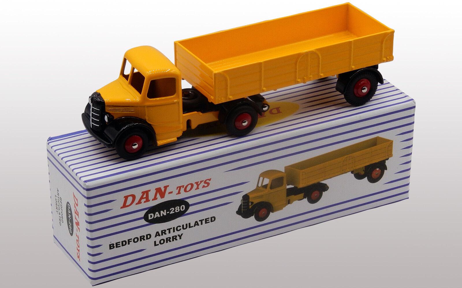 DAN TOYS Bedford Articulé Lorry Jaune Ref. DAN-280