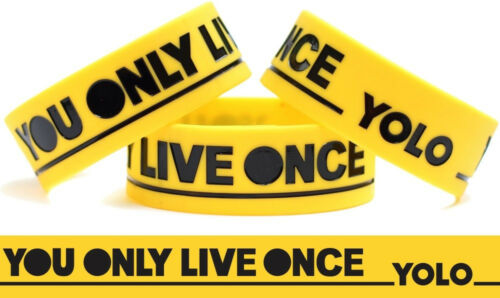 Wristband Yellow You Only Live Once Bracelet The Strokes Inspired Band Y.O.L.O