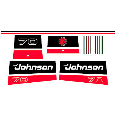 1997 outboard decal aufkleber adesivo sticker set Johnson 20