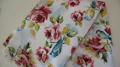 Digitaldruck Canvasbaumwolle 50 x 140 Blume auf weiß