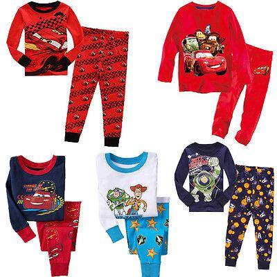 Cartoon Toy Story Buzz Lightyear Cars Kids Baby Boys Nightwear Pj's Sleepwear WS