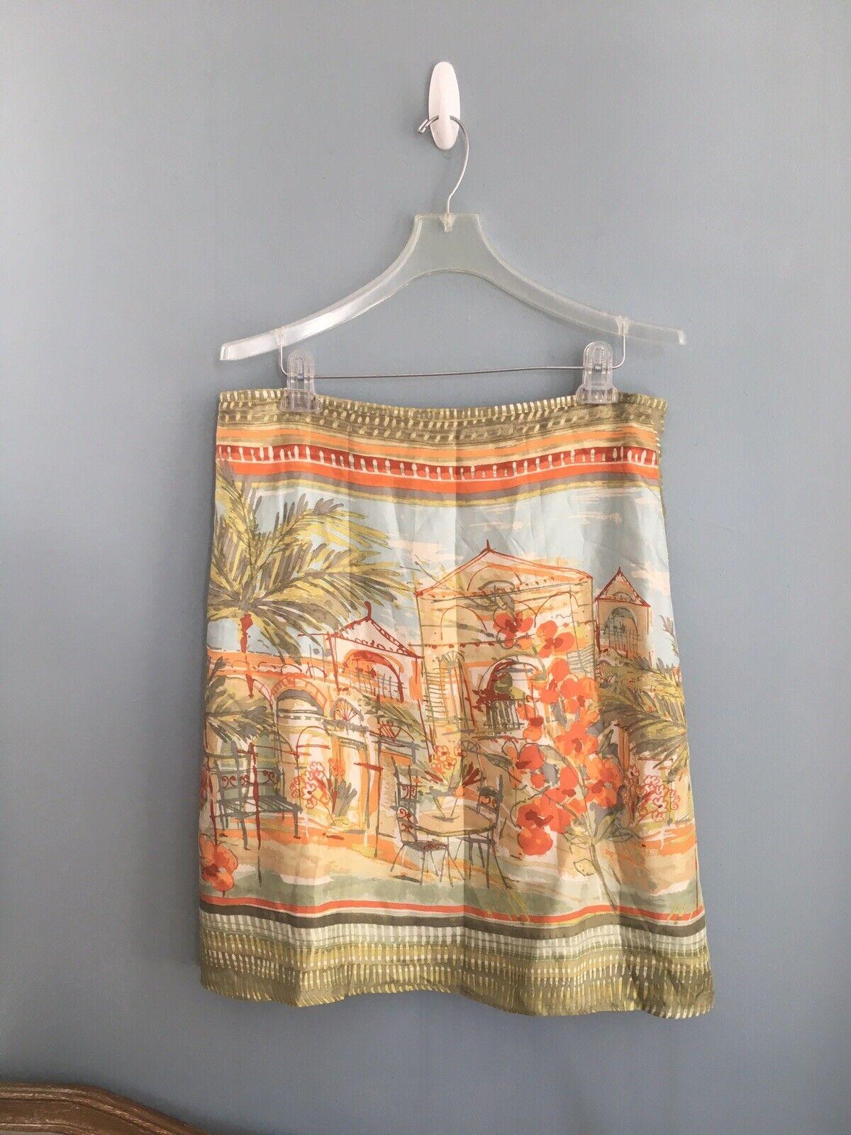NWOT Sigred Olsen 100% Silk Skirt Size 14